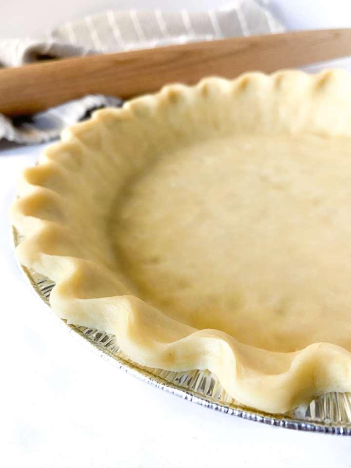 pie crust made from homemade pie dough