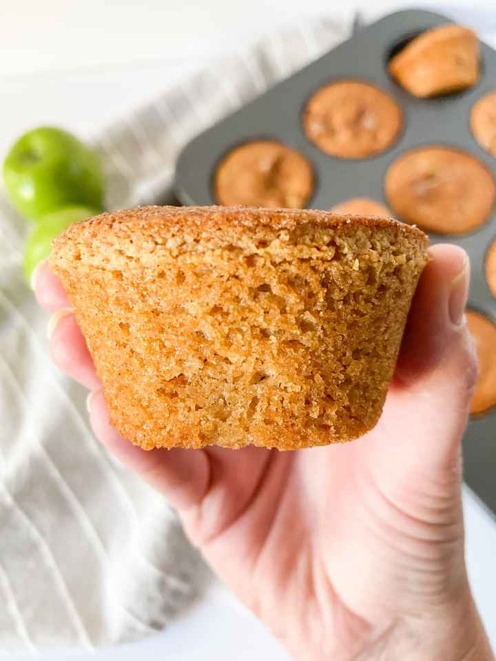 an apple cinnamon protein muffin