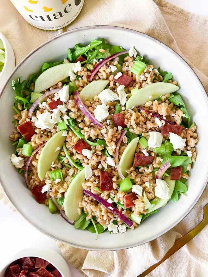 Farro Salad with apple cider