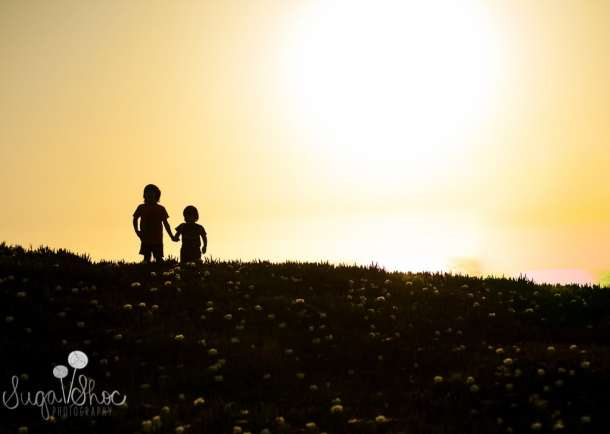 SugaShoc_Photography_Children_Photographer_Bucks County_Doylestown_PA_child_half_moon_bay_silhouette_brothers