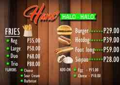 hanshalohalo-menu