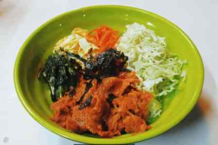 Koreanderia Cupbop food