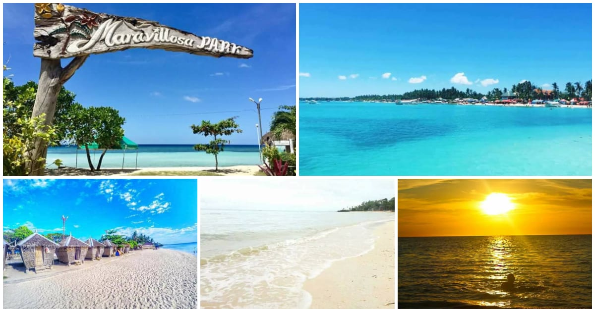 The beautiful Maravilla White Beach in Tabuelan