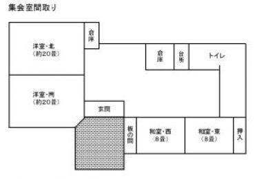 芝間集会所の図