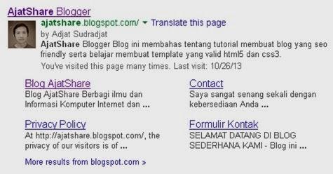 Cara Membuat Sitelink di Google Webmaster