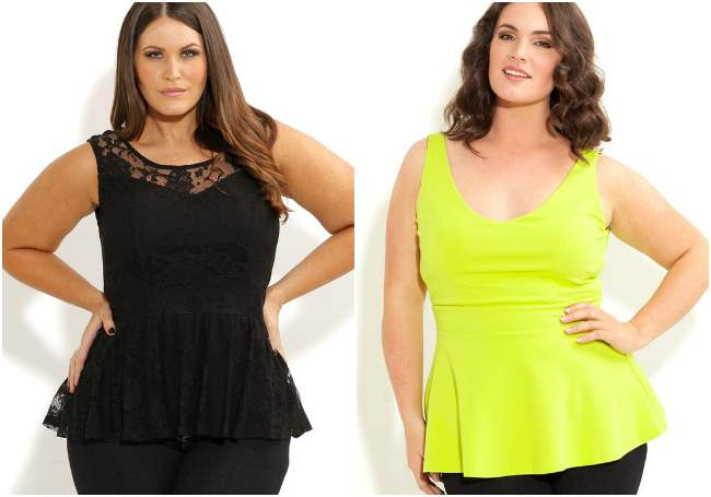 city chic plus size peplum top 001