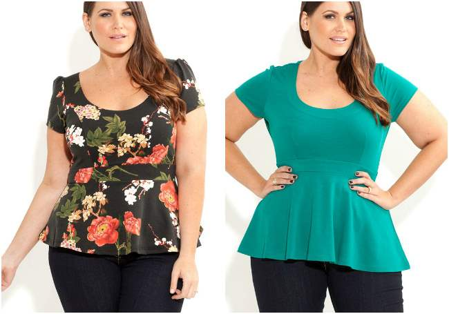 city chic plus size peplum top 002