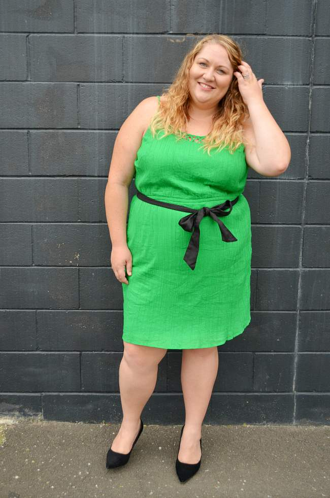 plus size old navy green dress 005
