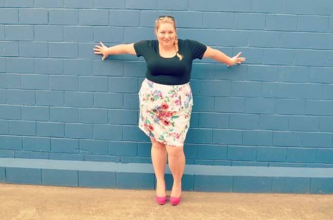 plus size eShakti peplum skirt outfit 009