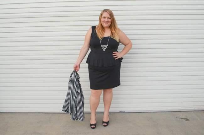 plus size peplum dress 005