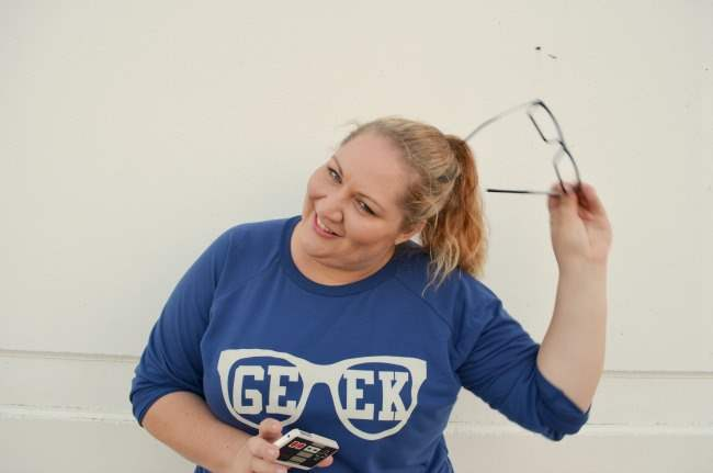 Plus size outfit with ASOS Curve Geek Tee 002