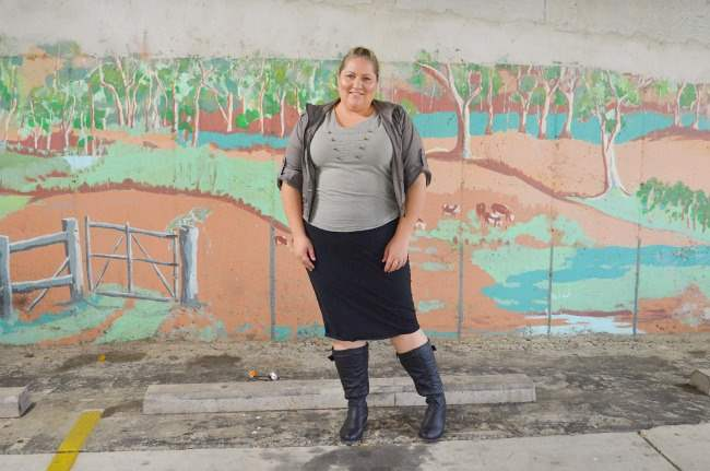plus size military outfit with boots 005