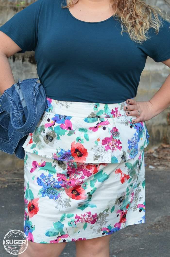 eshakti plus size skirt casual outfit-7