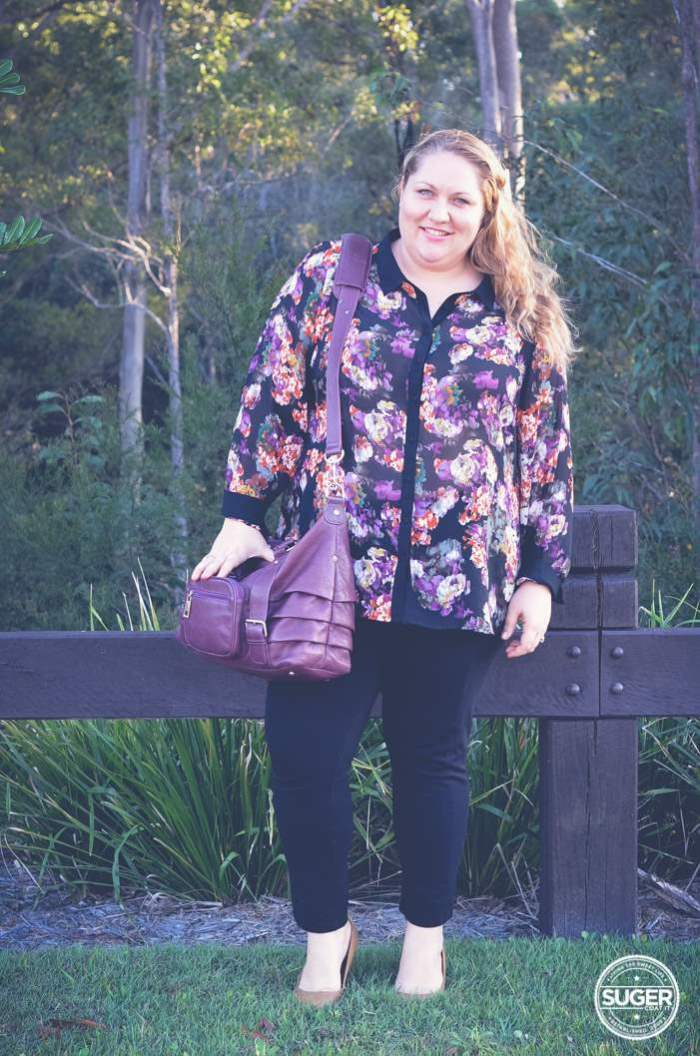 floral shirt and pants outfit plus size fashion-1