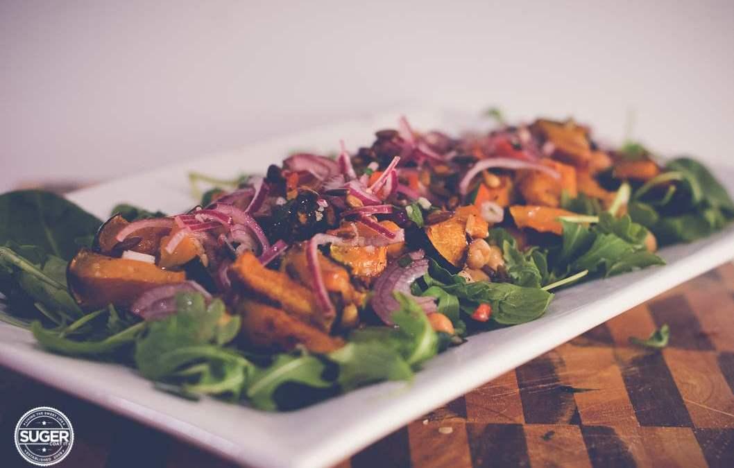 Warm Winter Chickpea and Pumpkin Salad