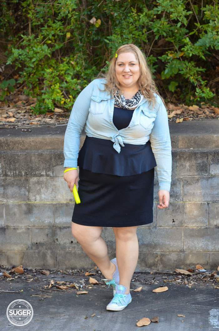 plus size casual lbd chambray outfit-5
