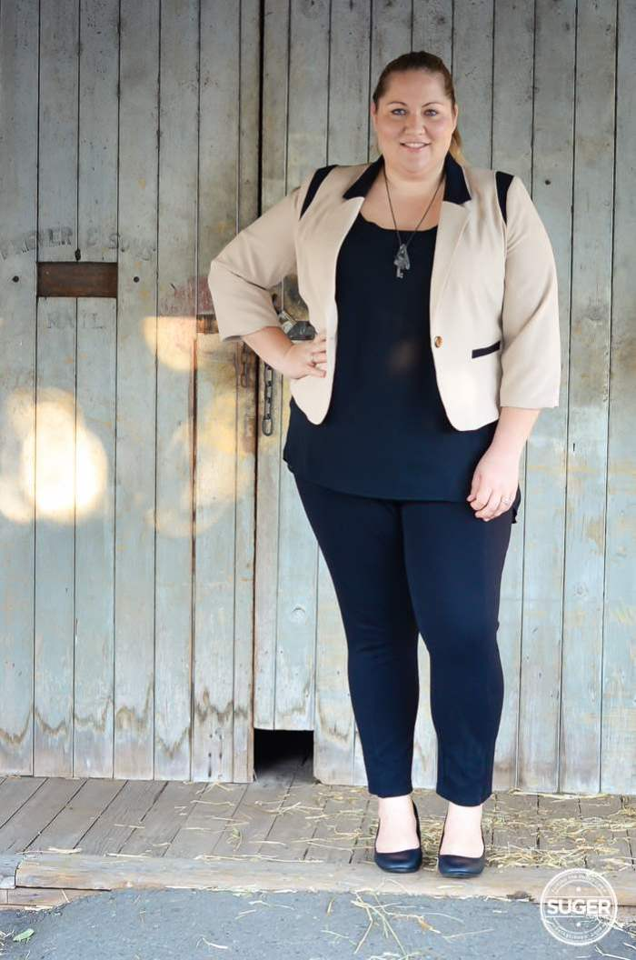 plus size work style outfit with blazer-2