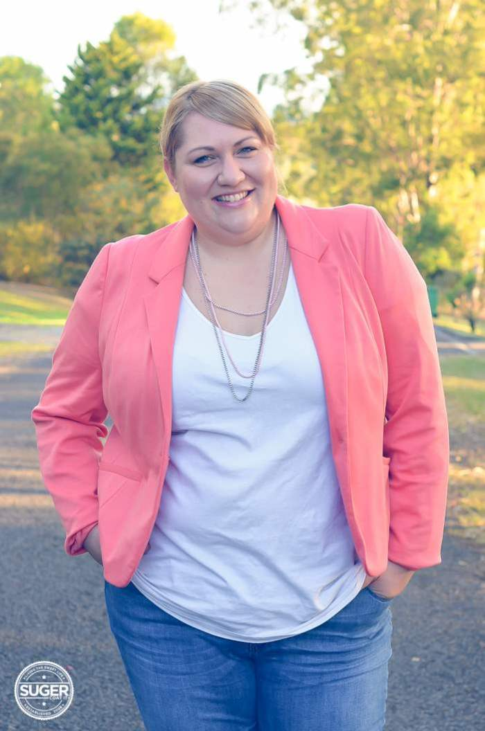 plus size blazer + jeans + heels outfit-9