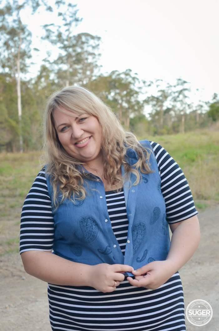 plus size stripe dress chambray outfit-1