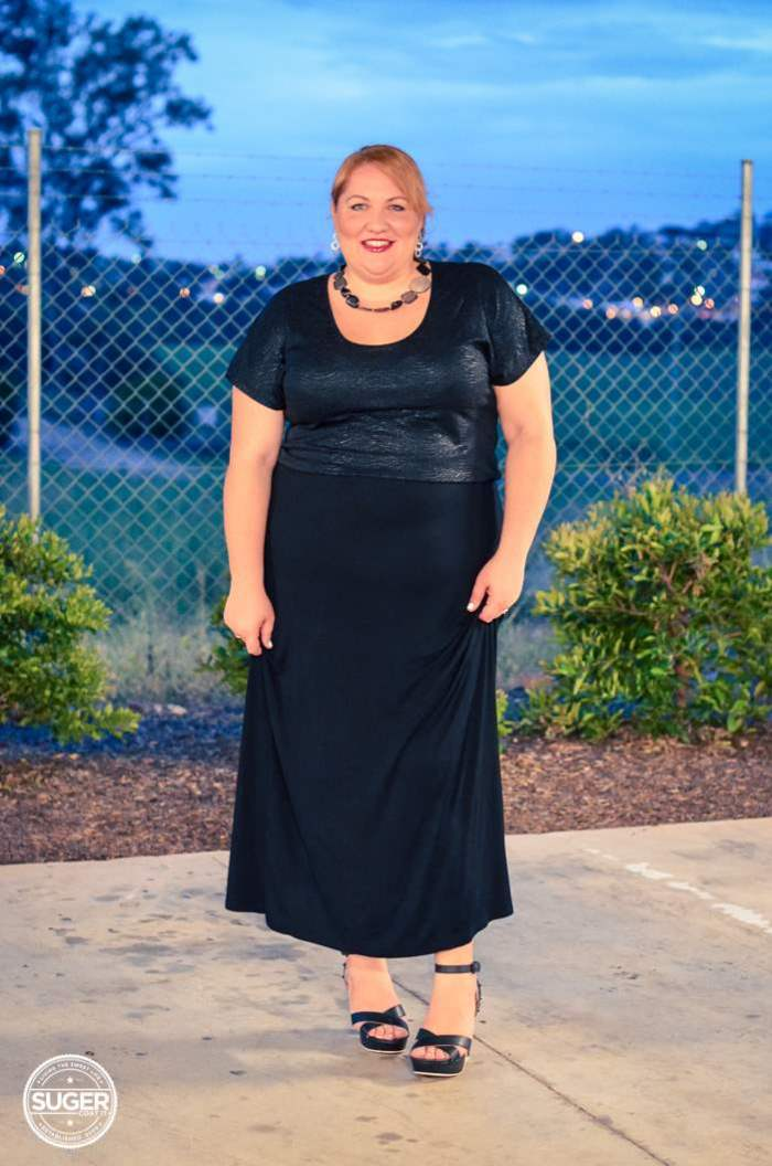 evening maxi skirt outfit plus size-1