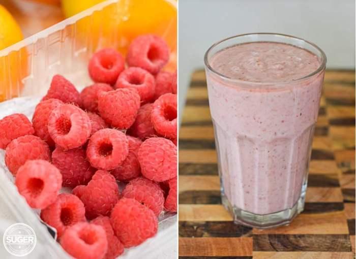 Pink Raspberry + Coconut Smoothie