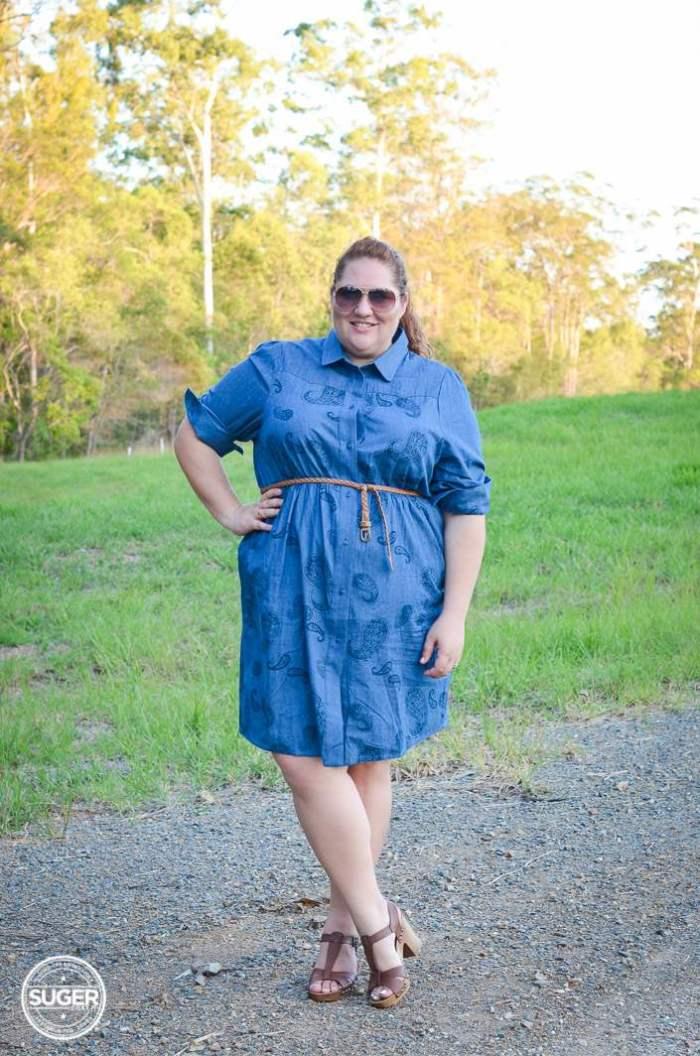 plus size chambray shirtdress 17 sundays-1