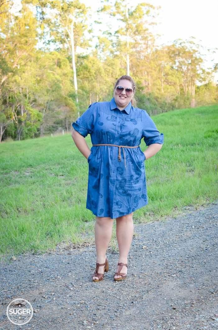 plus size chambray shirtdress 17 sundays-4