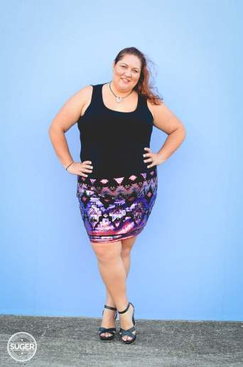 plus size sequin skirt fun outfit-7