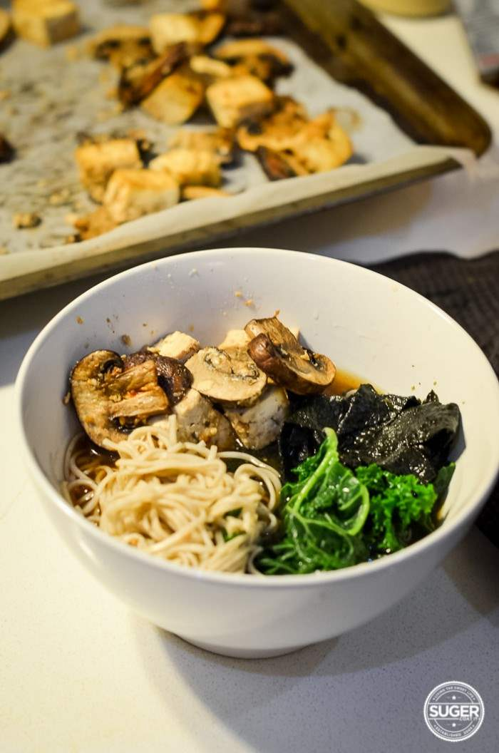 miso soba noodle kale and mushroom soup-17