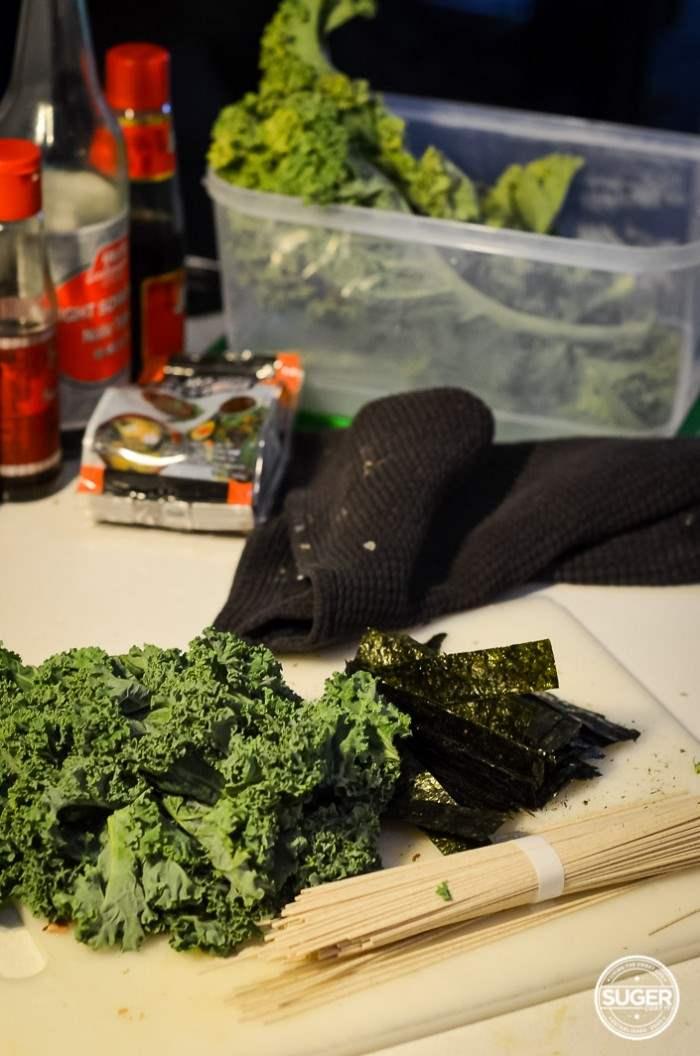 miso soba noodle kale and mushroom soup-6