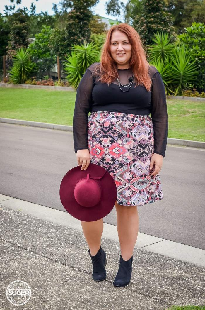 felt hat 17 sundays casual plus size outfit-5