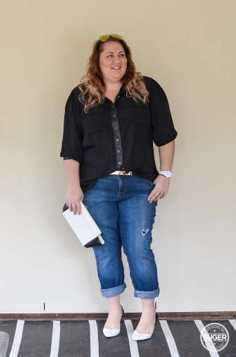 dress up boyfriend jeans plus size outfit-4