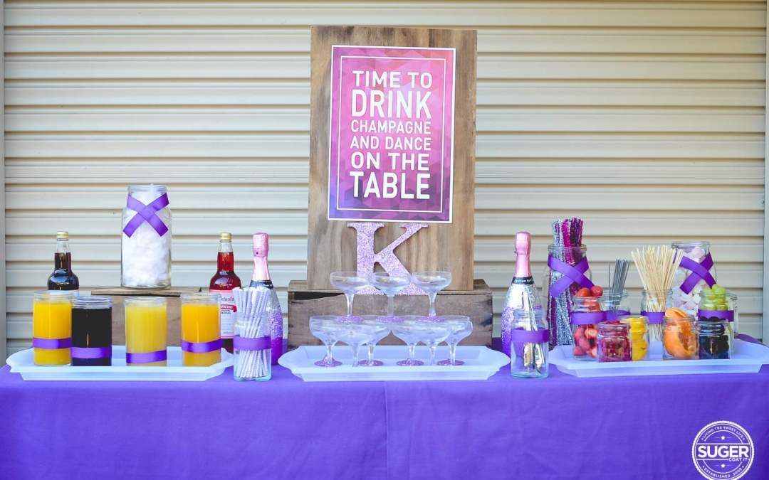 Hosting a champagne themed party