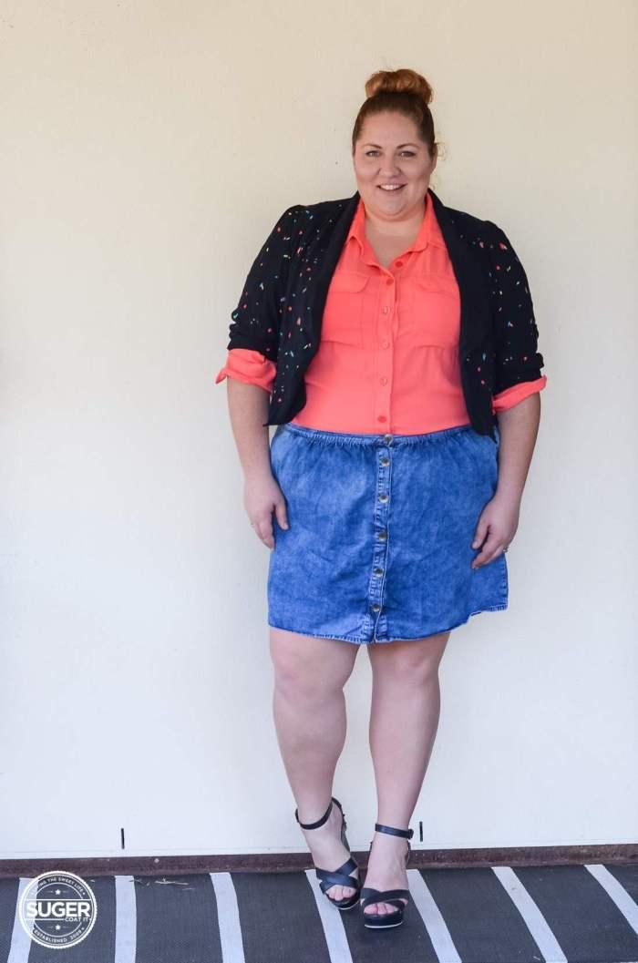 17 sundays jacket blouse + asos curve denim skirt-12