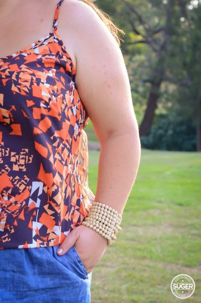city chic singlet denim skirt outfit plus size-6