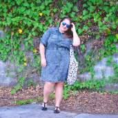 city chic denim dress casual outfit plus size-5