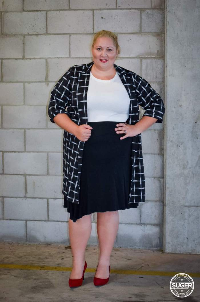 boohoo plus size work style monochrome outfit-4