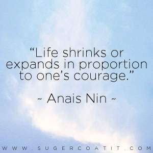 strong women - anais nin - suger coat it
