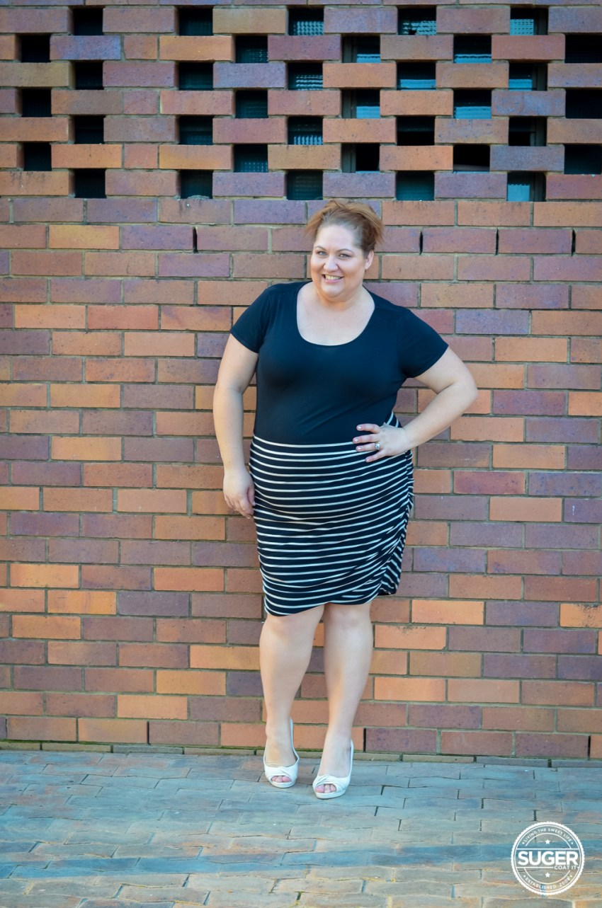 plus size work style stripe skirt 17 sundays-1