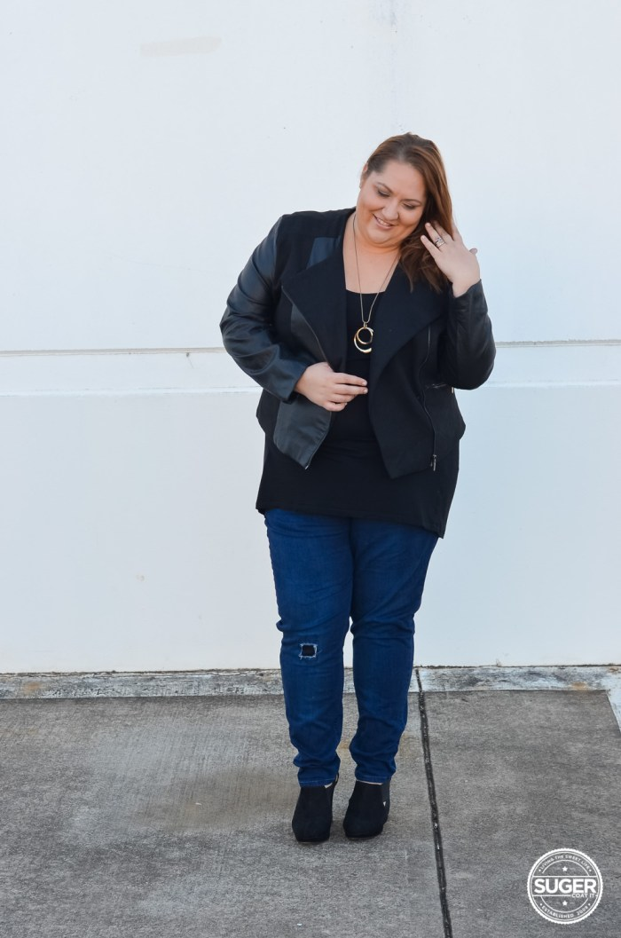 winter plus size outfit 17 sundays denim suger coat it-5