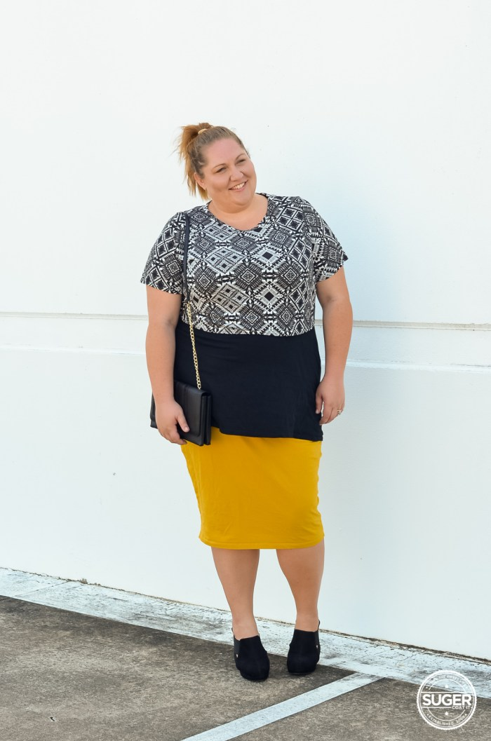 layered plus size crop pencil skirt outfit-6