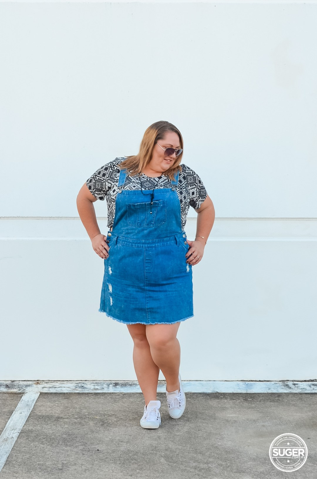 city chic skirt overalls summer plus size outfit-6