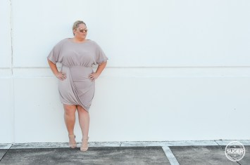 plus size blogger asos curve blush drape bodycon dress