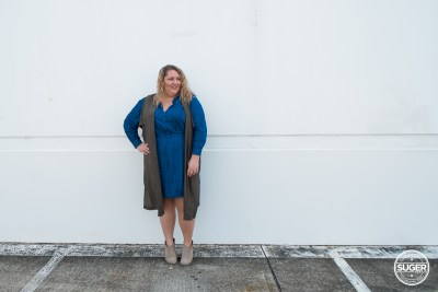 australian plus size fashion blogger chambray dress boots-2