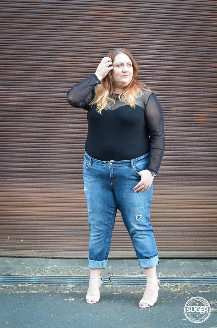 torrid denim boyfriend jeans bodysuit plus size outfit-3