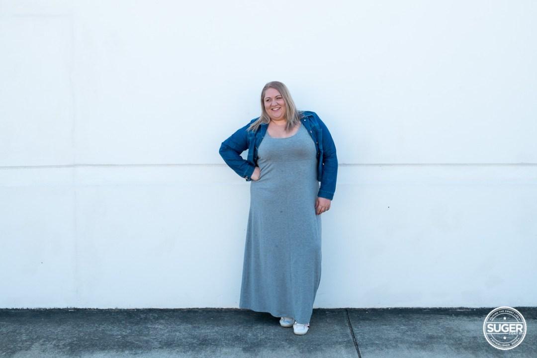 plus size blogger asos curve grey maxi dress-2