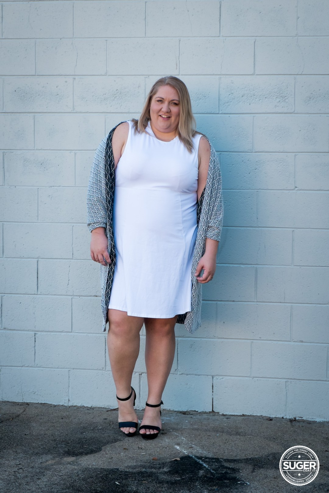plus size blogger asos curve white dress-5