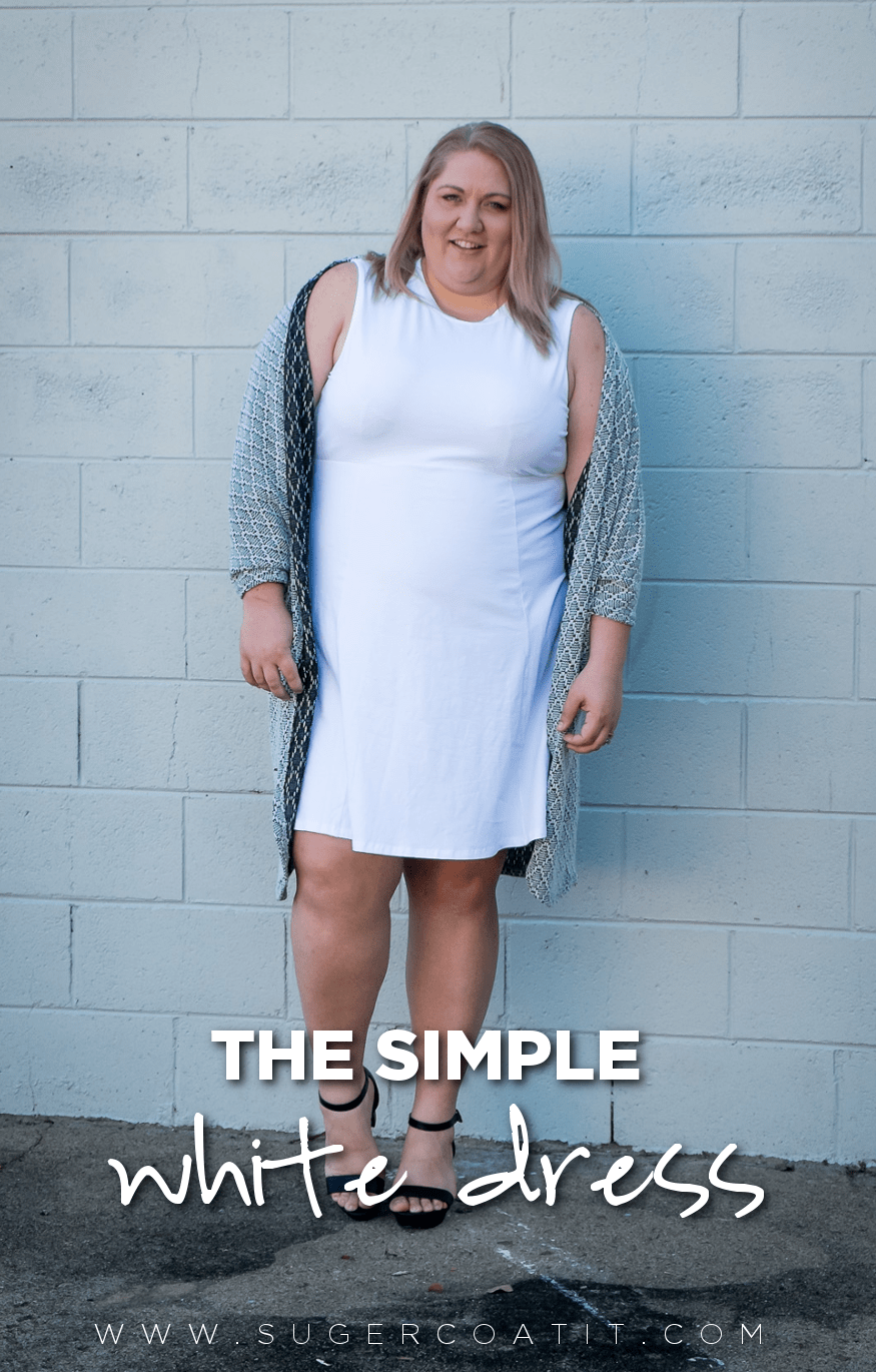 All a plus size woman REALLY needs is a little white dress | www.sugercoatit.com