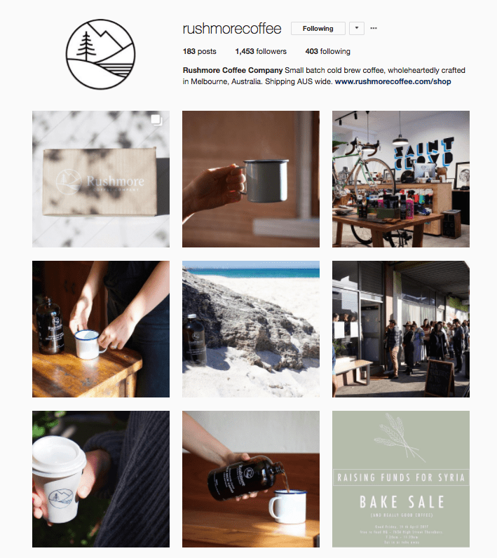 Rushmore Coffee Instagram Account