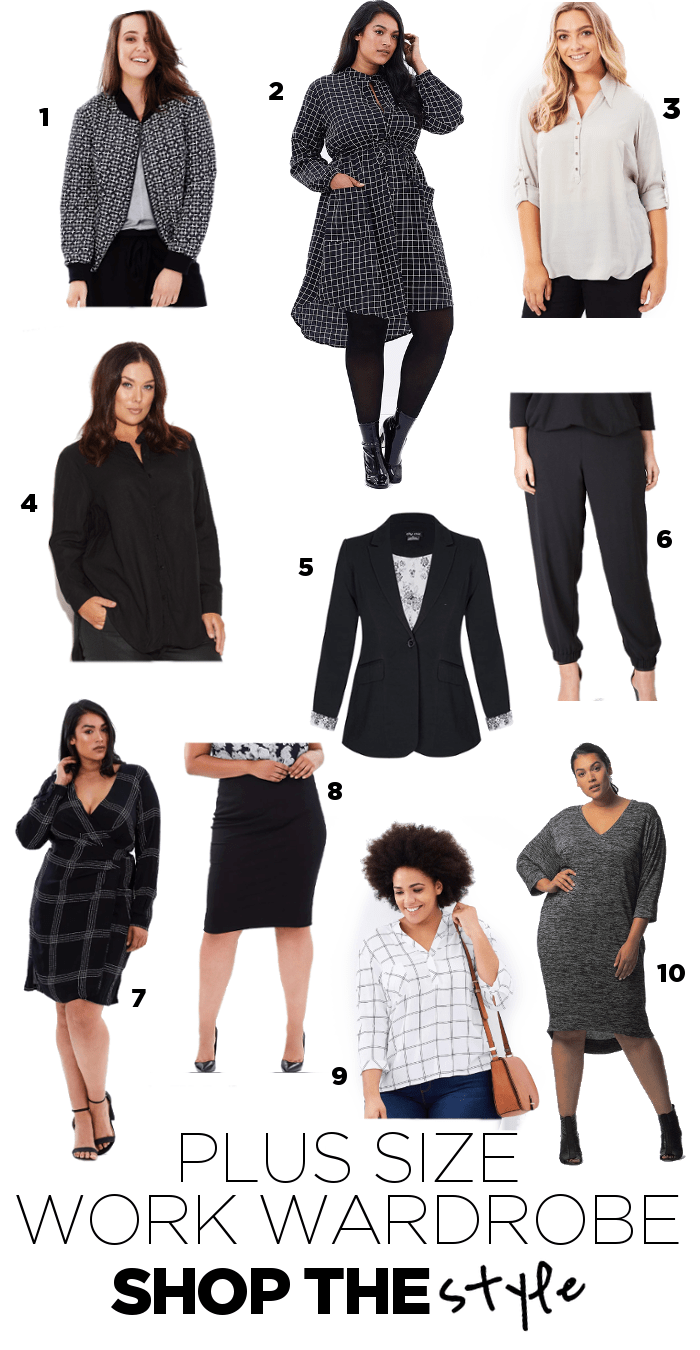 plus size capsule work wardrobe - Suger Coat It
